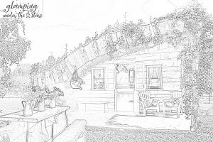Picture of Glamp House for Colouring In